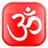 Om Rounded Red